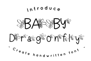 Print on Demand: Baby Dragonfly Decorative Font By CSDesign