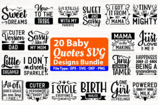 Print on Demand: Baby Quotes Design Bundle Graphic Print Templates By Design Store