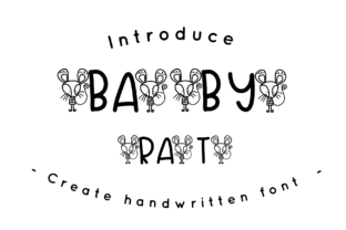 Print on Demand: Baby Rat Decorative Font By CSDesign