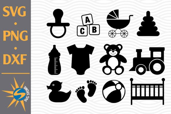Print on Demand: Baby Toy Silhouette Graphic Crafts By SVGStoreShop