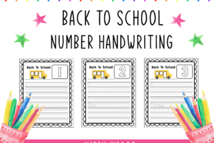 Print on Demand: Back to School Number Handwriting Graphic K By Happy Kiddos