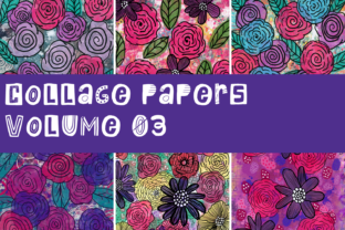 Print on Demand: Collage Papers Volume 3 Graphic Backgrounds By Thistle Fairy Studio