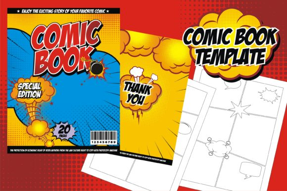 Print on Demand: Comic Book Template Graphic Graphic Templates By edywiyonopp