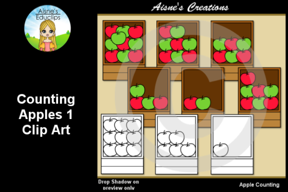Print on Demand: Counting Apples 1 Graphic Teaching Materials By Aisne Educlips
