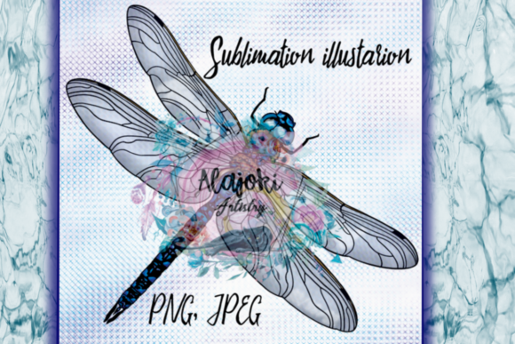 Print on Demand: Dragonfly Illustration Graphic Illustrations By Susan Alajoki