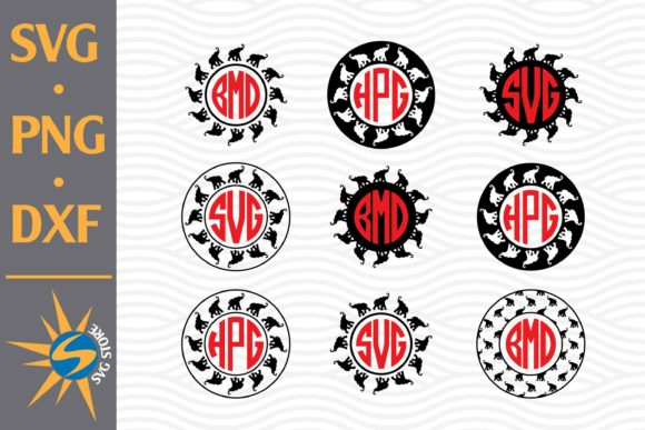 Print on Demand: Elephant Monogram Graphic Crafts By SVGStoreShop
