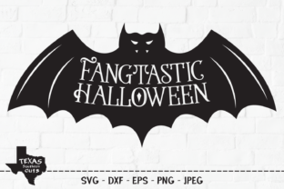Print on Demand: Fangtastic Halloween - Vampire Bat Graphic Crafts By texassoutherncuts