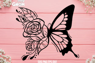 Floral Butterfly Graphic Crafts By babyGnom