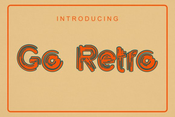 Print on Demand: Go Retro Display Font By Pidco.art