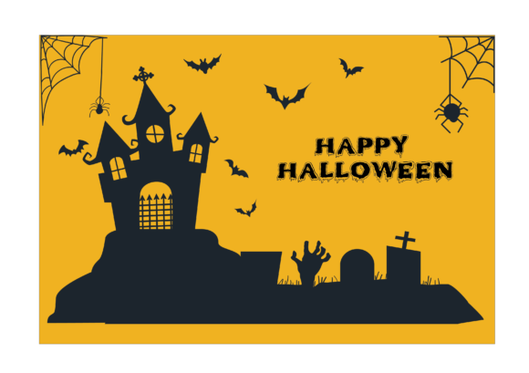 Halloween Background Silhouette Graphic Illustrations By optimasipemetaanlokal