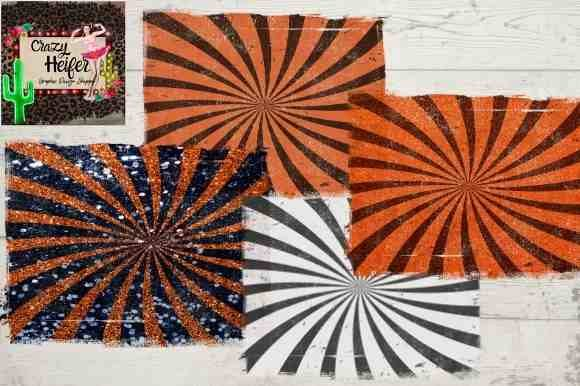 Print on Demand: Halloween Black Cat Starburst Retro PNG Graphic Backgrounds By Crazy Heifer Design Shoppe