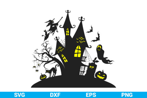 Print on Demand: Halloween Horror Castle Graphic Crafts By SVGitems