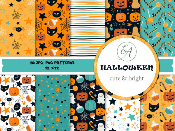 Halloween Patterns Graphic Patterns By lena-dorosh - Image 1