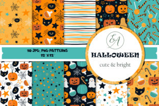 Halloween Patterns Graphic Muster By lena-dorosh