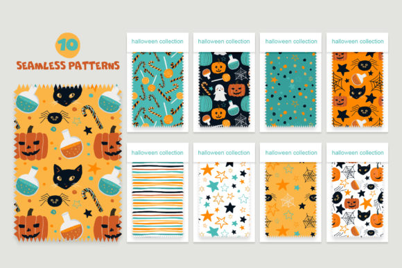 Halloween Patterns Graphic Patterns By lena-dorosh - Image 2
