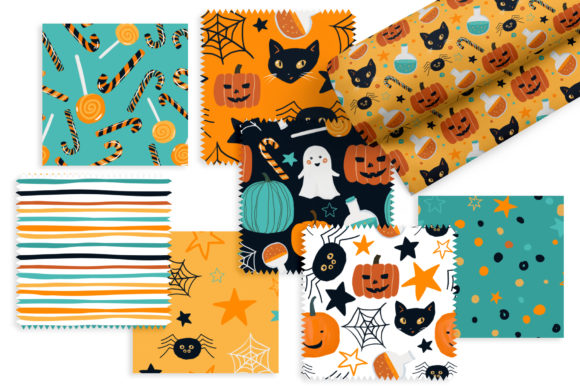 Halloween Patterns Graphic Patterns By lena-dorosh - Image 3
