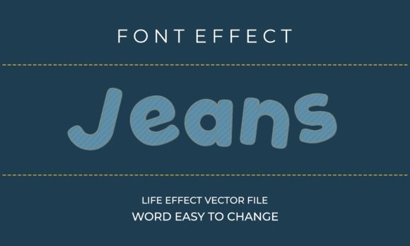 Jeans Text Effect Graphic Scene Generators By Applesix