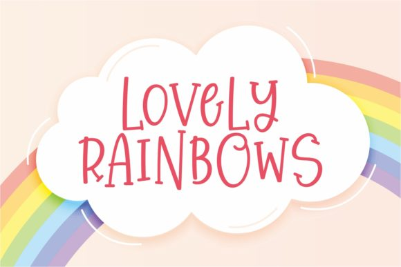 Print on Demand: Lovely Rainbows Display Font By Keithzo (7NTypes)