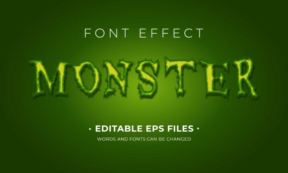Monster Text Effect Graphic Scene Generators By Applesix
