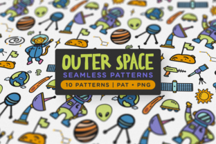Print on Demand: Outer Space Seamless Patterns Graphic Patterns By Telllu