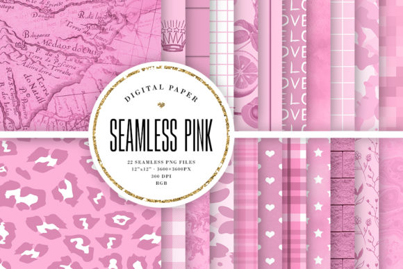 Print on Demand: Pastel Pink Seamless Backgrounds Graphic Backgrounds By Sabina Leja