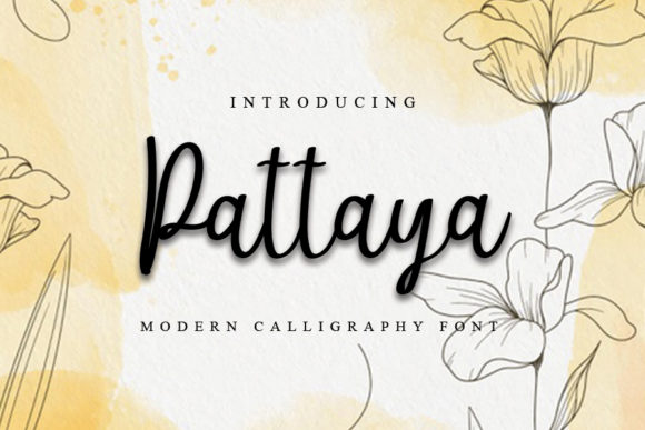 Print on Demand: Pattaya Script & Handwritten Font By K_IN Studio