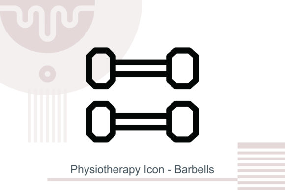 Physiotherapy Icon - Barbells Grafik Icons von MelindAgency