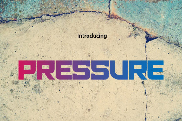 Print on Demand: Pressure Display Font By da_only_aan
