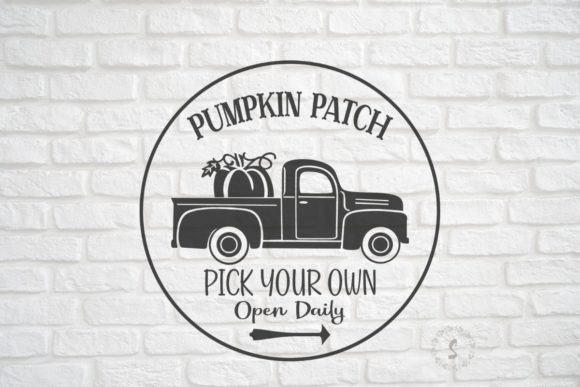 Pumpkin Patch Old Truck Graphic Crafts By sayitwithsimplicity
