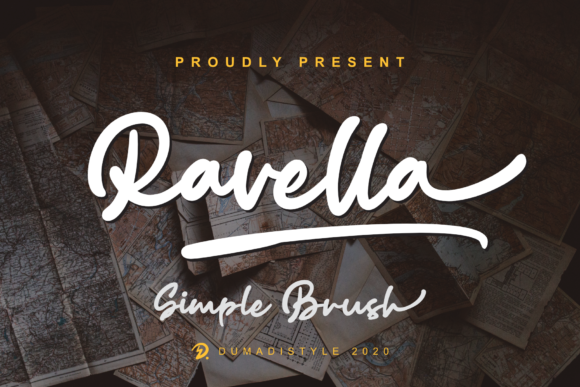 Print on Demand: Ravella Script & Handwritten Font By DUMADI
