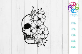 Print on Demand: Skull with Flowers Graphic Crafts By Sintegra
