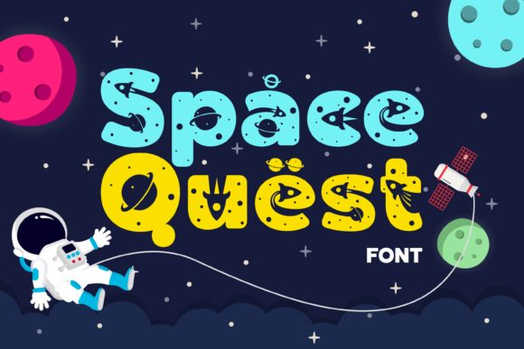Print on Demand: Space Quest Display Font By Lone Army