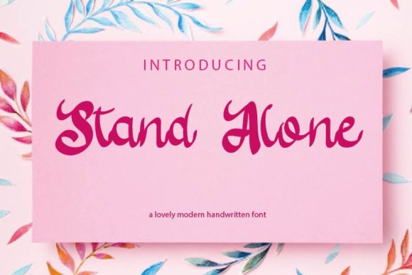 Print on Demand: Stand Alone Script & Handwritten Font By mizanstudio