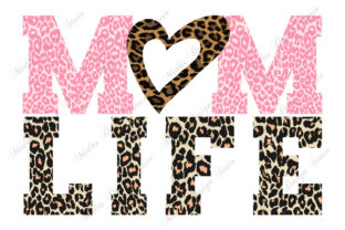 Sublimation - Mom Life Leopard Graphic Print Templates By MidasStudio