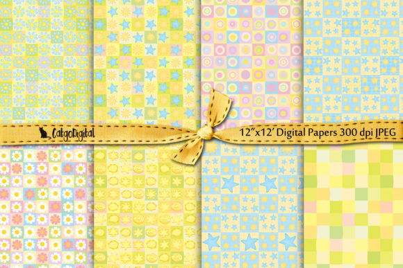 Print on Demand: Summer Pastel Digital Papers Graphic Patterns By CatgoDigital