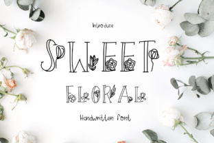 Print on Demand: Sweet Floral Decorative Font By CSDesign