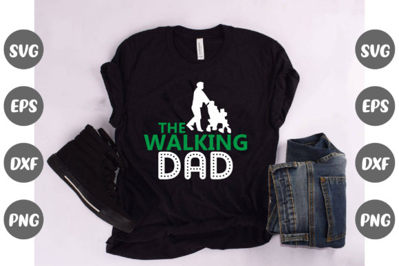 Print on Demand: The Walking Dad Design Graphic Illustrations By Graphics Home.net