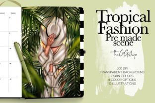 Print on Demand: Tropical Fashion Illustration Gráfico Ilustraciones Por TheGGShop