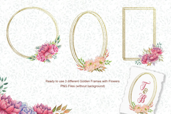 Watercolor Flowers and Animals Set Graphic Preview