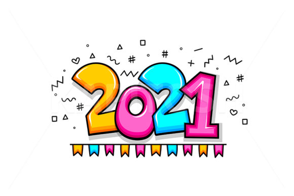 2021 New Year Cartoon Comic Text Graphic Illustrations By Kapitosh