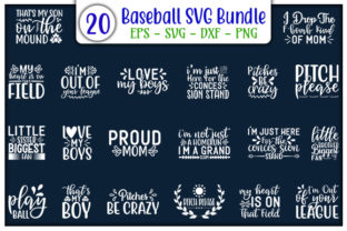 Print on Demand: Baseball Quotes Design Bundle Graphic Print Templates By GraphicsBooth