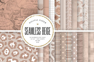 Print on Demand: Beige Seamless Patterns & Textures Graphic Backgrounds By Sabina Leja