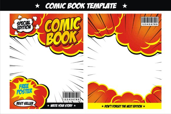 Print on Demand: Comic Book Template Free Comic Speech Graphic Graphic Templates By edywiyonopp