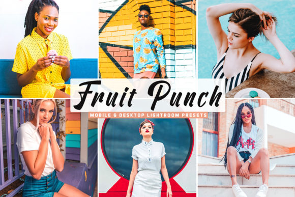 Print on Demand: Fruit Punch Pro Lightroom Presets Graphic Actions & Presets By Creative Tacos