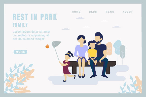 Rest in Park Graphic Landing Page Templates By deniprianggono78