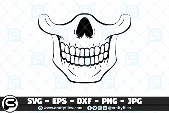 Print on Demand: Skull Head for Mask Design Graphic Crafts By Crafty Files