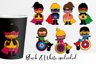 Print on Demand: Superhero Wearing Face Mask Graphic Illustrations By DarraKadisha