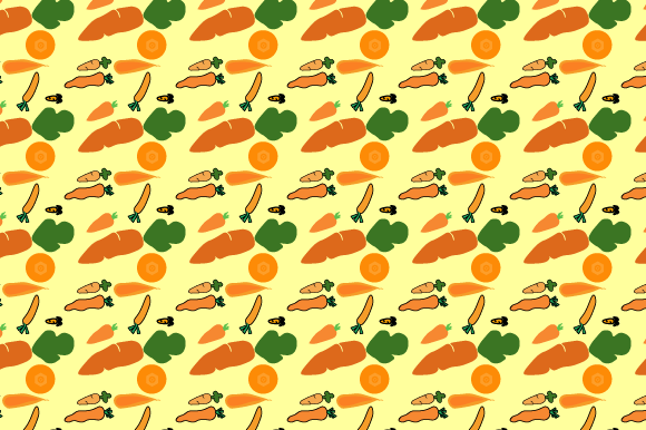 Simple Carrot Pattern Design Graphic Patterns By Rizky Creative