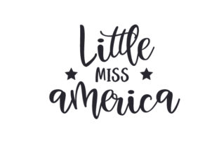 Little Miss America Independence Day Craft Cut File By Creative Fabrica Crafts