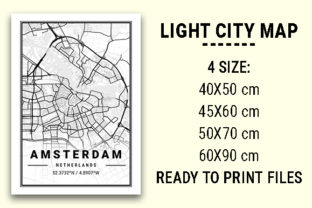 Print on Demand: Amsterdam Light City Map Graphic Photos By tienstencil